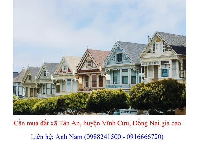 Cần mua đất xã Tân An, đường DT768, Cộ - Cây Xoài, Sông mây, Xóm Gò giá 3 triệu/m2