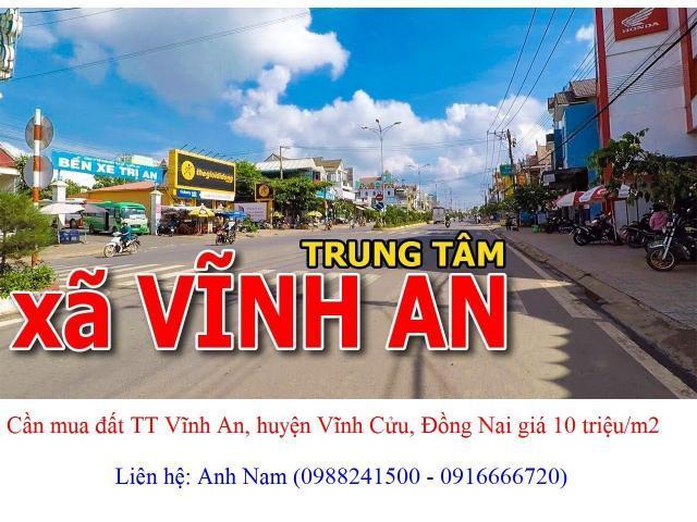mua đất TT Vĩnh An, đường DT762, DT767, DT768, Đoàn Thị Điểm, Hồ Xuân Hương giá cao