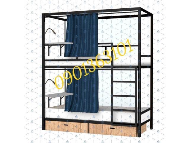 Giường tầng treo rèm 5in1 homestay