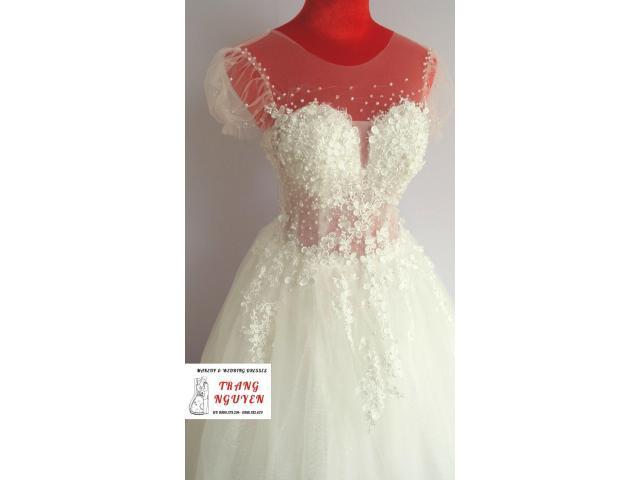 Cho thuê váy cưới mới chỉ tử 500K