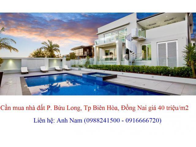 Cần mua nhanh giá cao, nhà đất P Bửu Long, Tp Biên Hòa, thiện chí mua, chịu phí sang tên