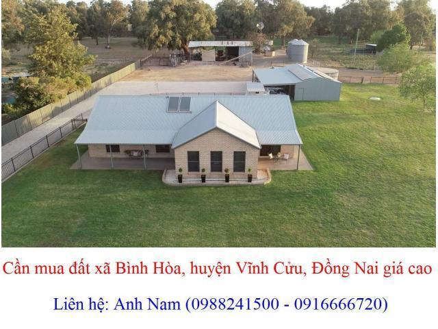 Cần mua gấp giá cao, 20 lô đất xã Bình Hòa, huyện Vĩnh Cửu, mua chính chủ, thiện chí mua