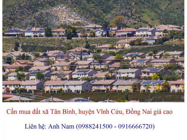 Cần mua gấp 20 lô đất xã Tân Bình, huyện Vĩnh Cửu giá cao, mua chính chủ, thiện chí mua