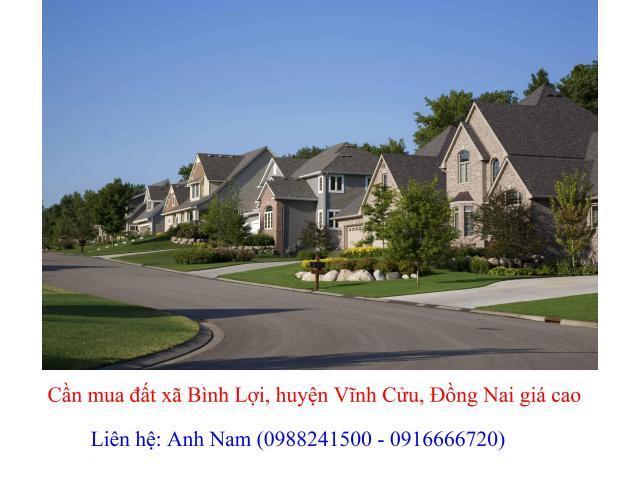 Mua đất xã Bình Lợi, huyện Vĩnh Cửu giá cao, mua chính chủ, thiện chí mua, chịu phí