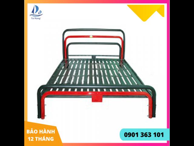 giường sắt xuất khẩu lắp ráp 1mx2m