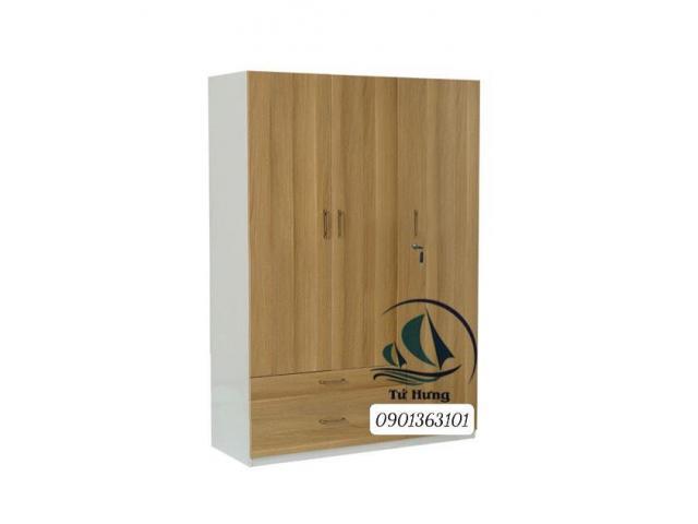 tủ quần áo gỗ 3 cánh 1m4 MDF