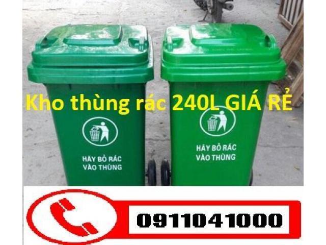 Chuyên bán thùng rác nhựa 120lit, thùng rác công cộng 240lit