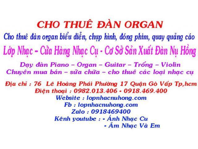 Thuê đàn organ tại Tp.HCM