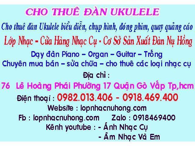 Nơi cho thuê đàn ukulele tại quận gò vấp
