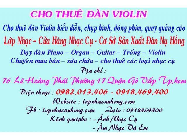 Cho thuê đàn violin biểu diễn