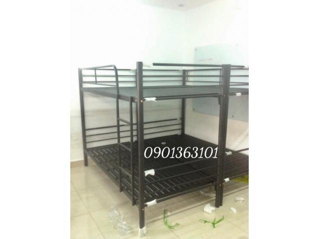 Giường tầng sắt xuất khẩu 2 in 1 kích thước 1m2x2m