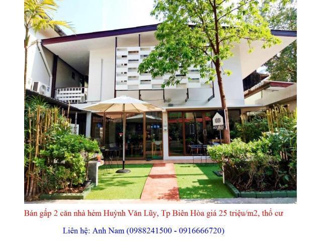 Cần bán gấp 2 căn nhà đường Huỳnh Văn Lũy, Tp Biên Hòa giá 2 tỷ 700 triệu/120m2, chính chủ