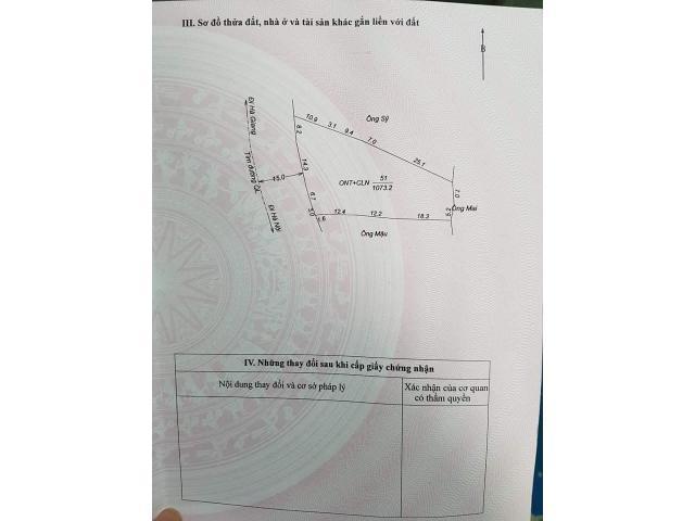 BÁN ĐẤT TẠI BẮC QUANG TỈNH HÀ GIANG DIỆN TÍCH 1073M2 / THỔ CƯ 400M2