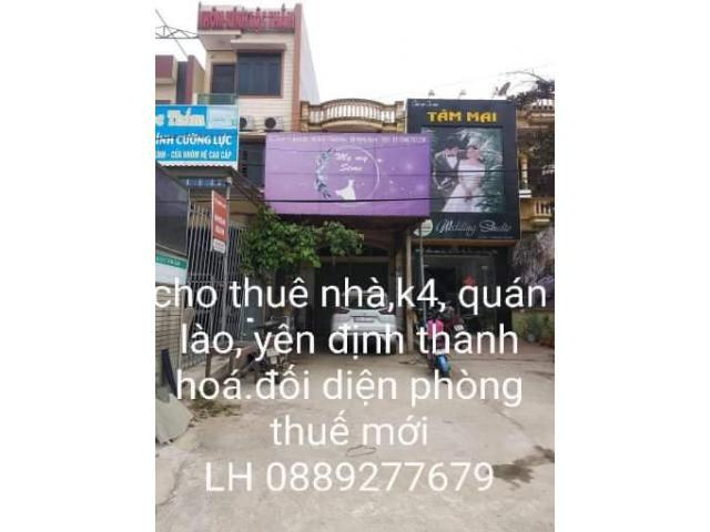 Cho thuê nhà  - Thị trấn Quán Lào - Huyện Yên Định - Thanh Hoá