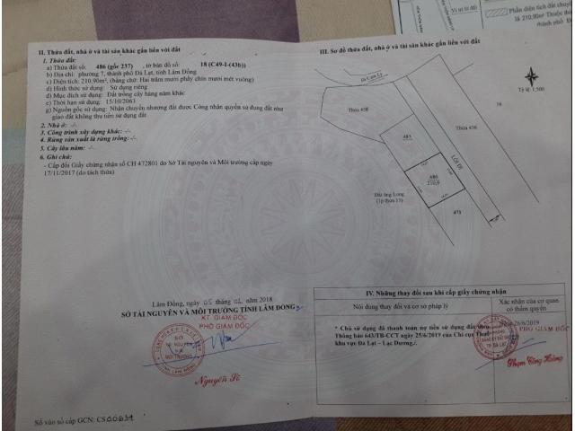 Bán đất hẻm đường nhựa Măng Lin, P7, Đà Lạt