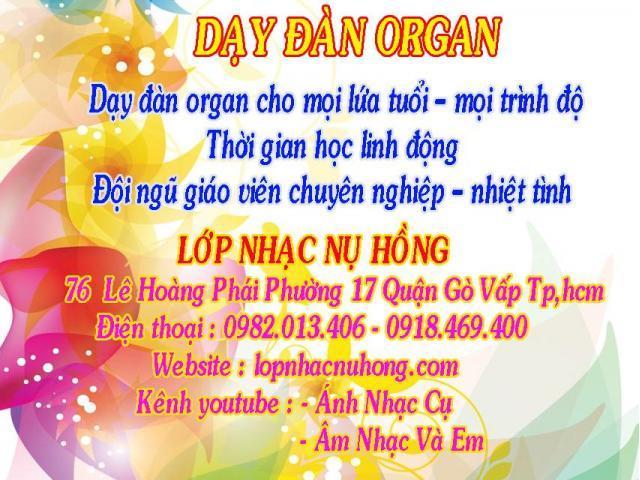 Dạy đàn organ cho người mới bắt đầu học