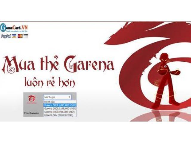 Bạn có thể mua thẻ Garena Online giá rẻ ở đâu?