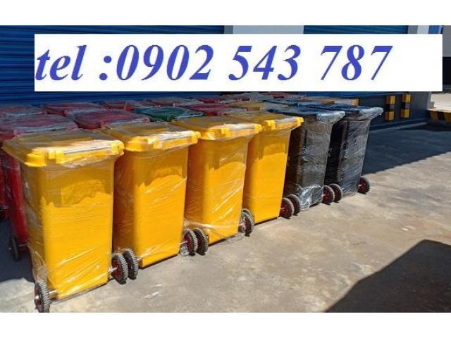 Thùng rác 120 lít nhựa HDPE giá rẻ chất lượng