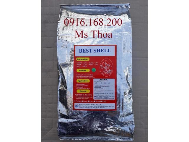 KHOÁNG BEST SHELL - Khoáng tạt dạng hạt giúp bổ sung khoáng chất cho tôm cá