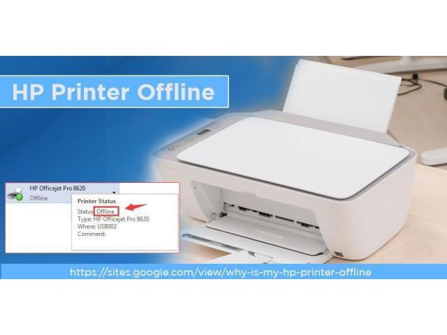 Why is my PC showing the HP printer is offline?