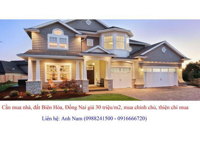 Cần mua nhà Tp Biên Hòa để ở giá cao, mua chính chủ, thiện chí mua, chịu phí
