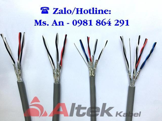 Cáp tín hiệu vặn xoắn chống nhiễu 1, 2, 3, 4 Pair Altek Kabel